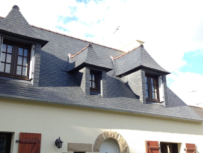 Rénovation toiture maison ardoise Pont-Labbé - LE TIRILLY COUVERTURE - ZINGUERIE